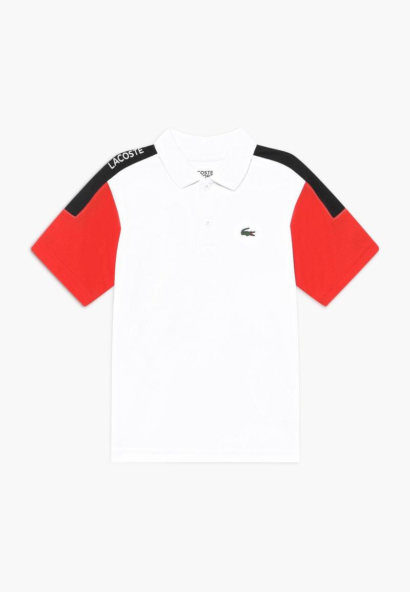 Lacoste Sport - TENNIS - Sports shirt - white/corrida/black