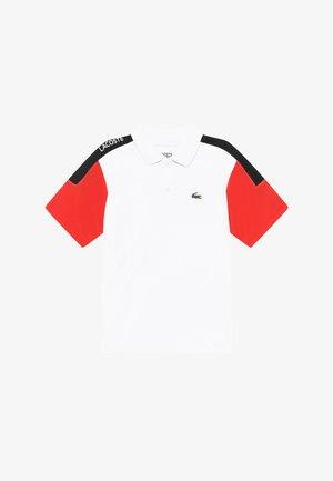 TENNIS - Sports shirt - white/corrida/black