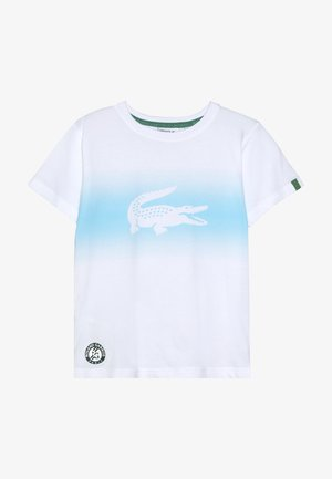 ROLAND GARROS - Print T-shirt - white/haiti blue/yucca