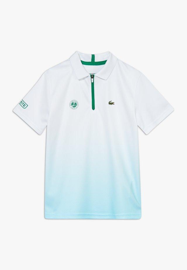 TENNIS ROLAND GARROS - Sports shirt - white/haiti blue/yucca