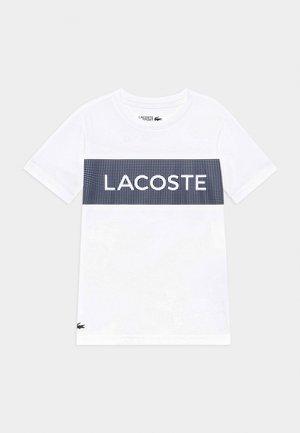 T-shirt imprimé - white/navy blue