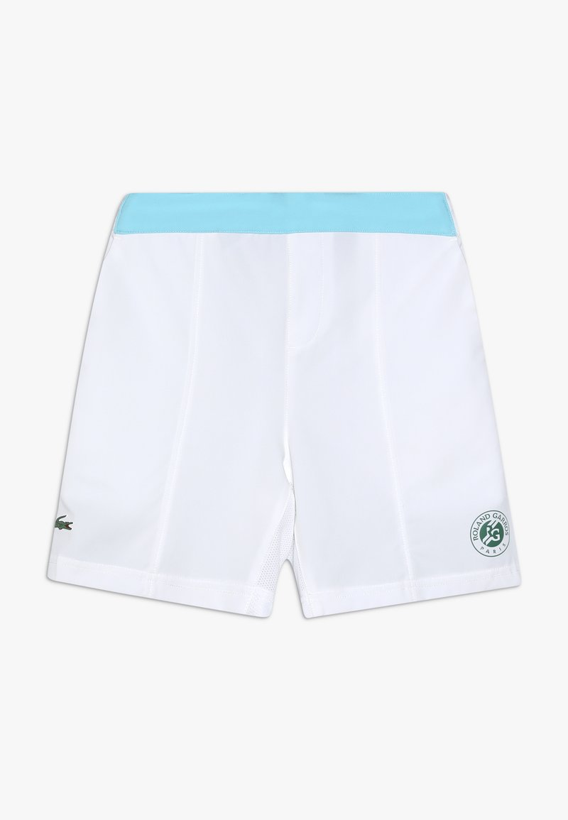 Lacoste Sport - TENNIS SHORT ROLAND GARROS - Sportovní kraťasy - white/haiti blue/yucca