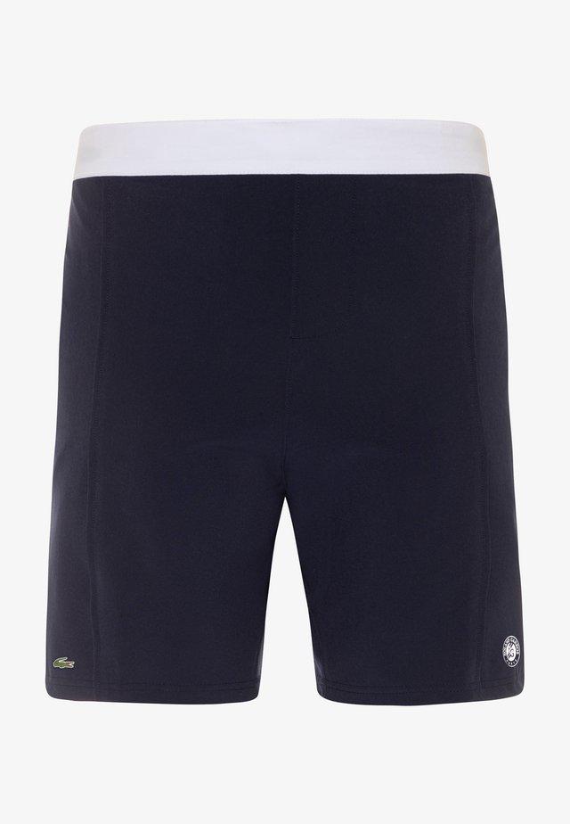 TENNIS SHORT ROLAND GARROS - Pantalón corto de deporte - navy blue/white
