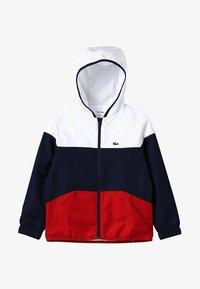 Lacoste Sport - Veste de survêtement - white/navy blue/red - 4