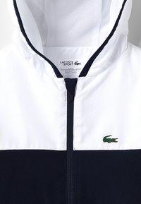 Lacoste Sport - Veste de survêtement - white/navy blue/red - 2