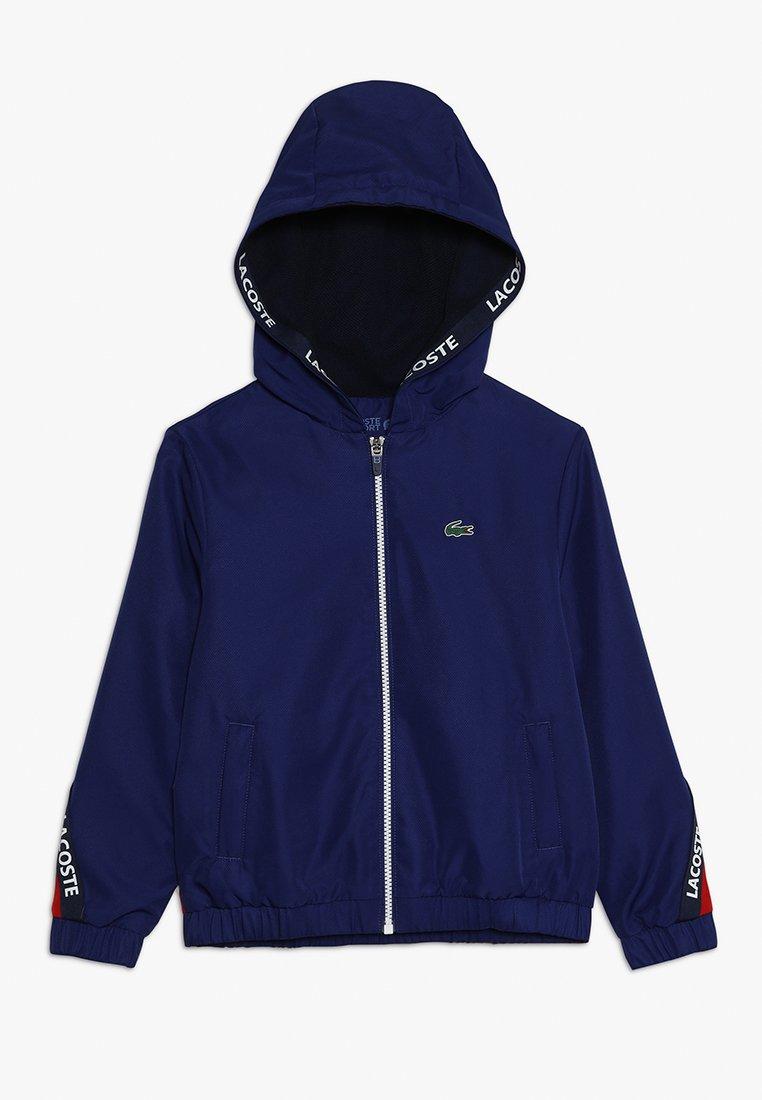 Lacoste Sport - TENNIS JACKET - Veste de survêtement - ocean/red/navy blue/white