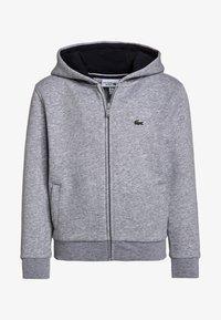Lacoste Sport - TENNIS HOODIE - Zip-up hoodie - silver chine/navy blue - 0