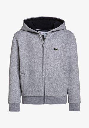 TENNIS HOODIE - Zip-up hoodie - silver chine/navy blue