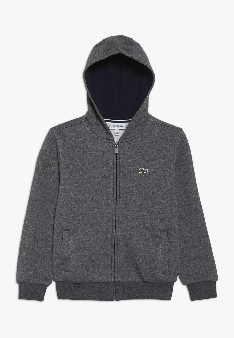 Lacoste Sport - TENNIS HOODIE - veste en sweat zippée - pitch/navy blue