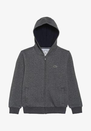 TENNIS HOODIE - Zip-up hoodie - pitch/navy blue