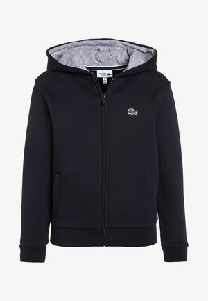 TENNIS HOODIE - Sweatjacke - navy blue/silver chine
