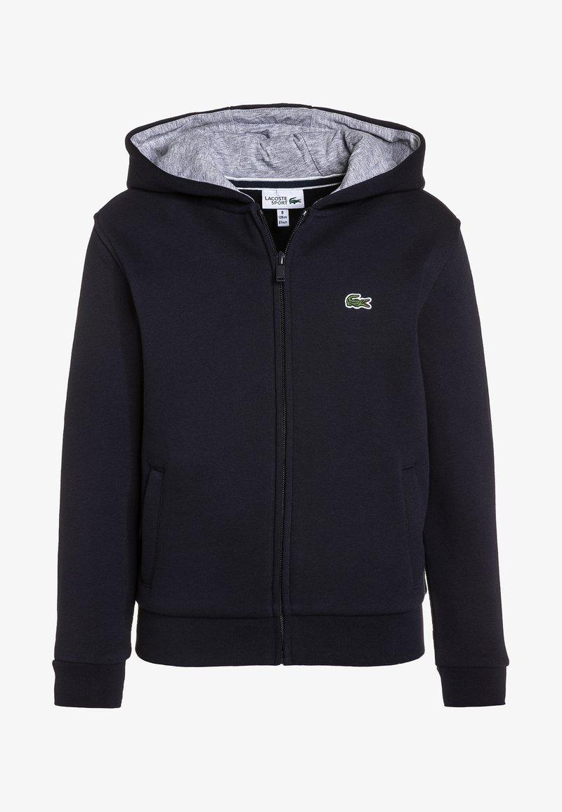 Lacoste Sport - TENNIS HOODIE - Zip-up hoodie - navy blue/silver chine