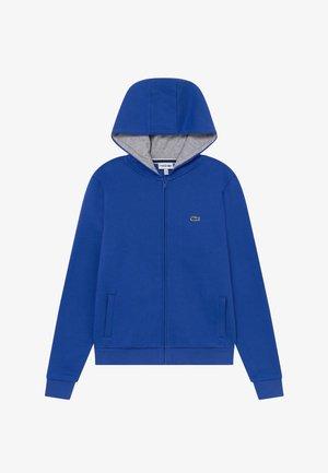 TENNIS HOODIE - Zip-up hoodie - blue/light grey