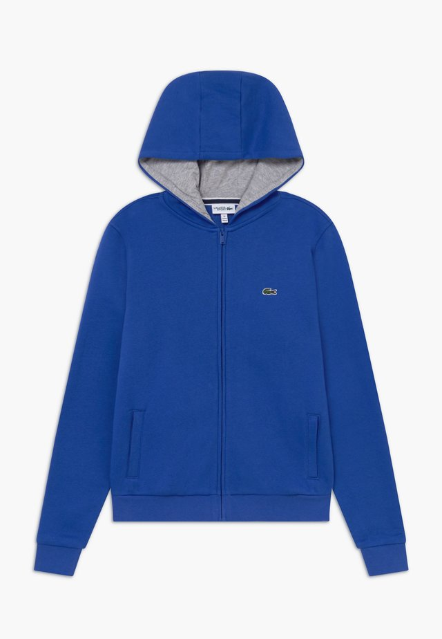 TENNIS HOODIE - Zip-up hoodie - blue/light grey