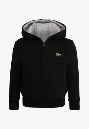 TENNIS HOODIE - veste en sweat zippée - noir/argent chine