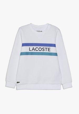 CREW NECK - Sweatshirt - white/cuba obscurity/navy blue