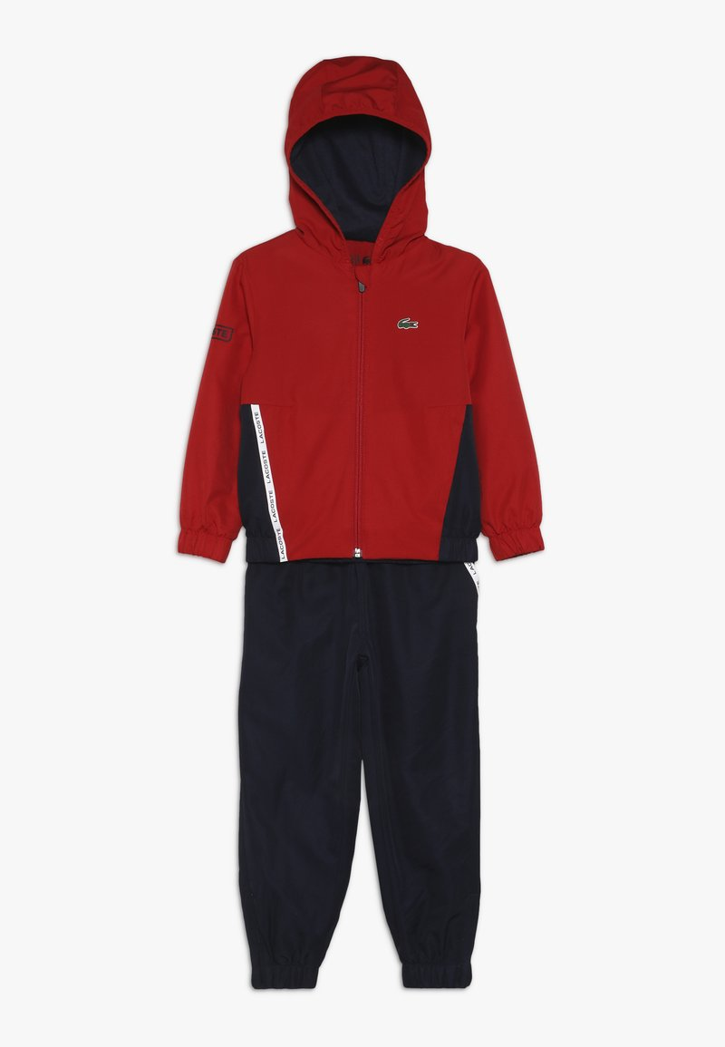 Lacoste Sport - TRACKSUIT - Träningsset - red/navy blue/white