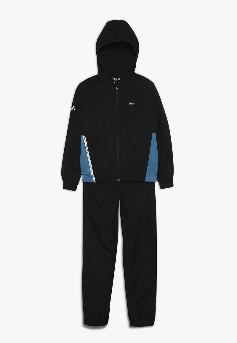 Lacoste Sport - TRACKSUIT - Trainingsanzug - black/sumatra white