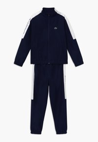 Lacoste Sport - TRACKSUIT - Survêtement - navy blue/white - 0