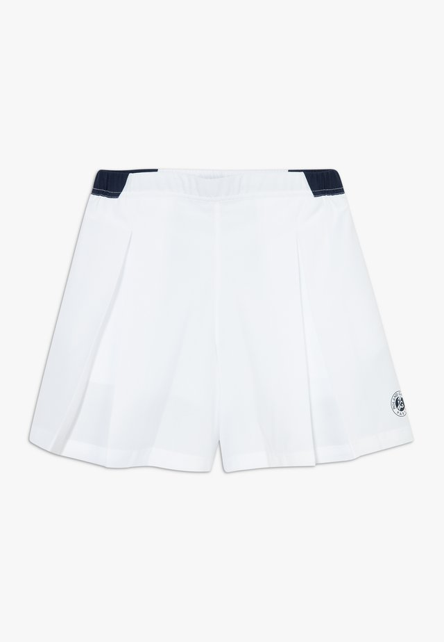 TENNIS ROLAND GARROS - Träningsshorts - white/navy blue