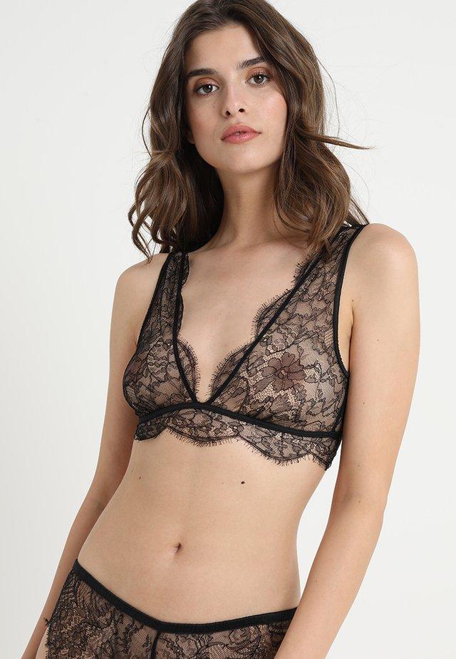 CHERIE - Triangle bra - black