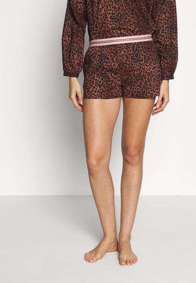 SUNDAY - Pyžamový spodní díl - brown