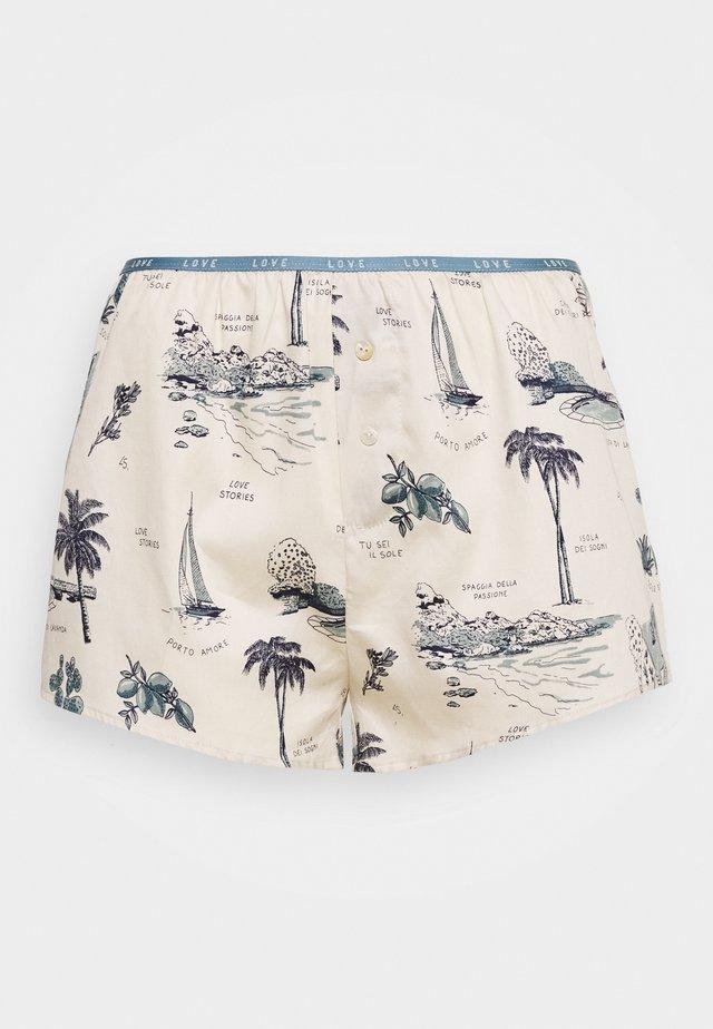 SUNDAY - Pyžamový spodní díl - white/blue