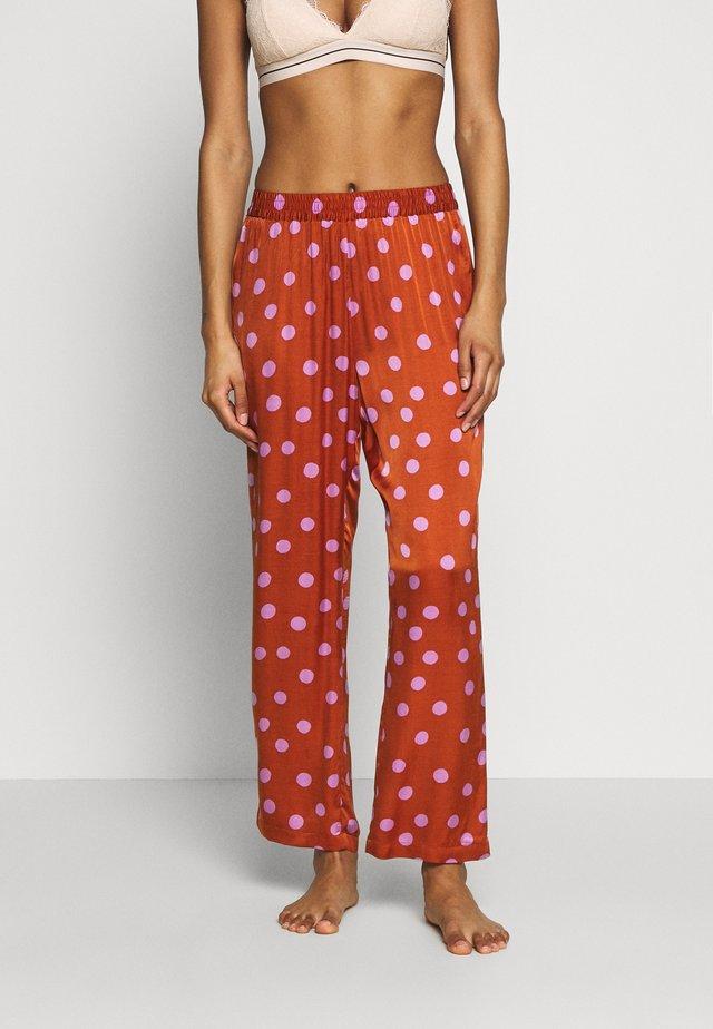 WEEKEND - Pyžamový spodní díl - brown/pink