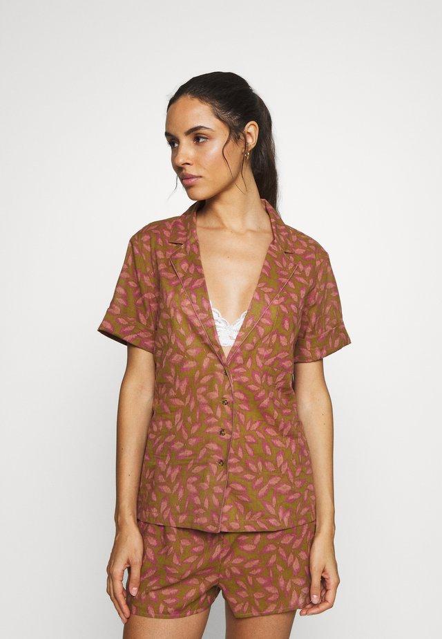 ALICE - Pyžamový top - brown/pink