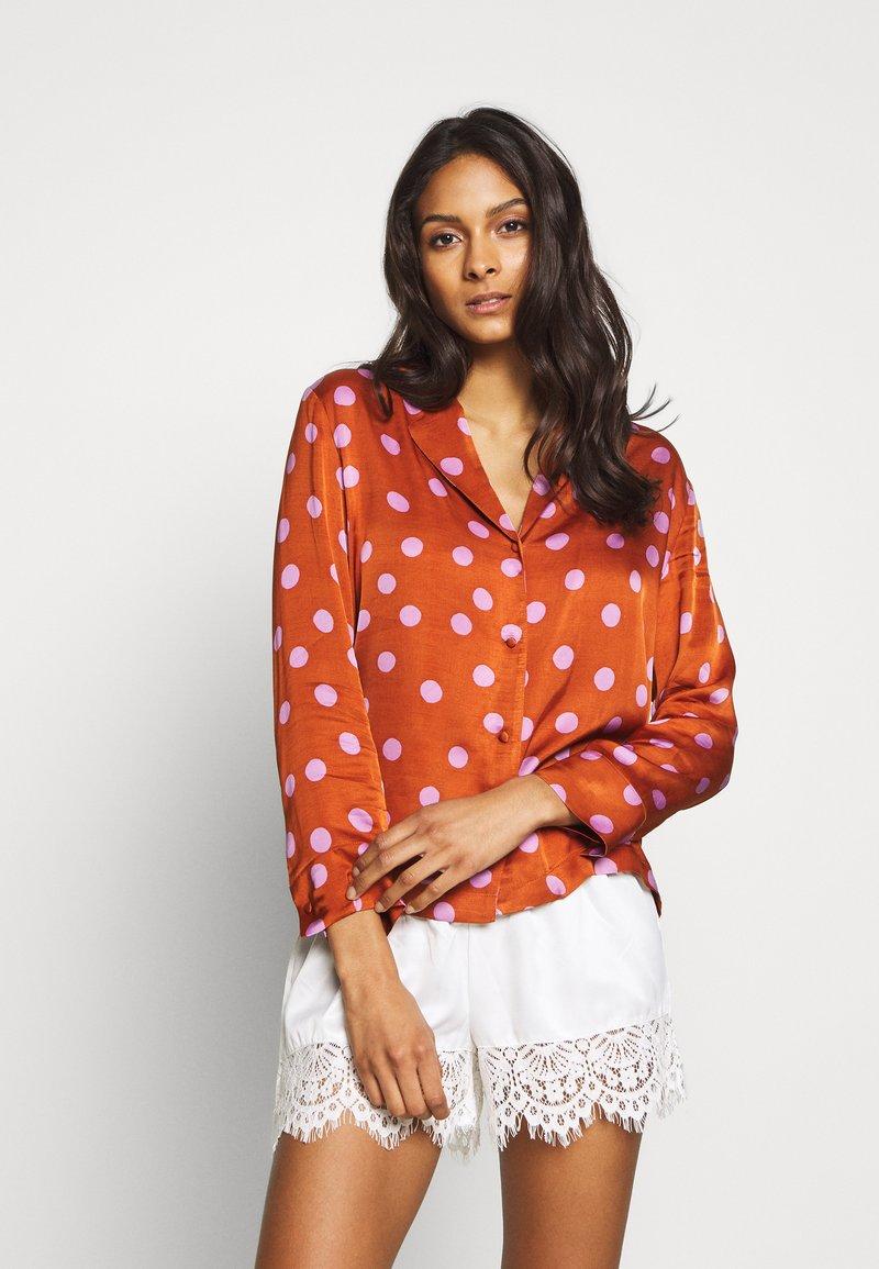 LOVE Stories - BLUEMOON - Pyjamashirt - brown/pink