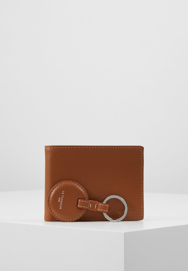 Le Tanneur - KEY RING AND WALLET ZIPPED POCKET SET - Keyring - tan/mineral