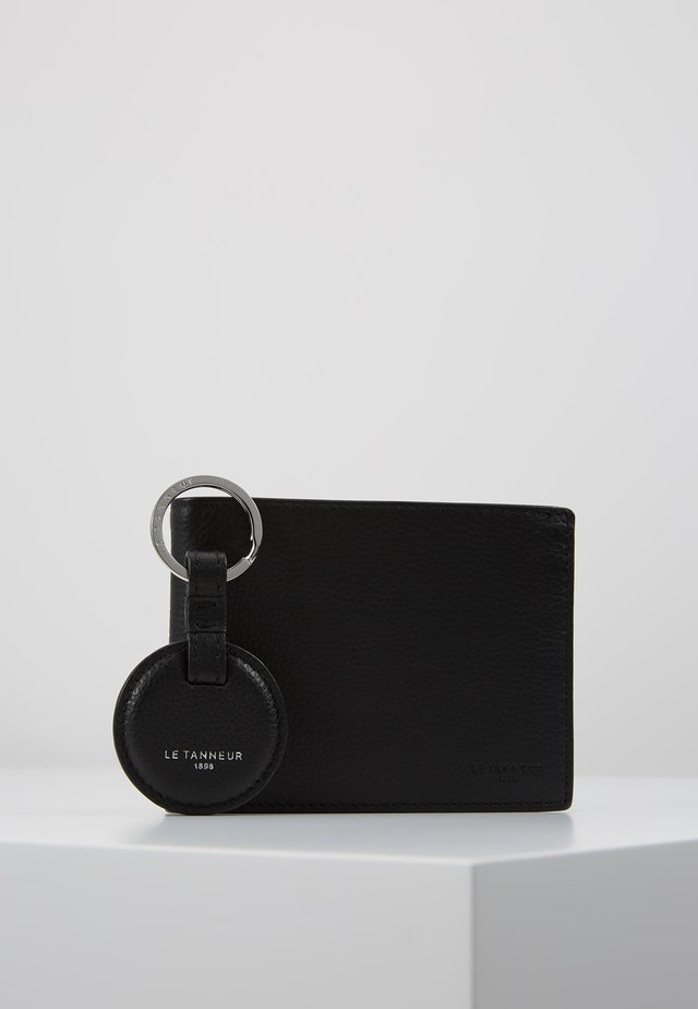 KEY RING AND WALLET ZIPPED POCKET SET - Sleutelhanger - noir