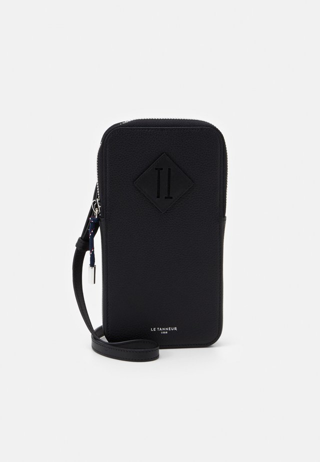 NATHAN ZIPPED PHONE HOLDER - Mobilväska - noir