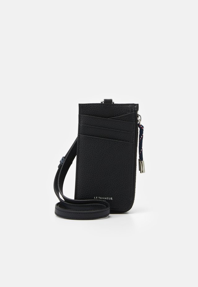 NATHAN ZIPPED STRAP CARDS HOLDER - Portemonnee - noir