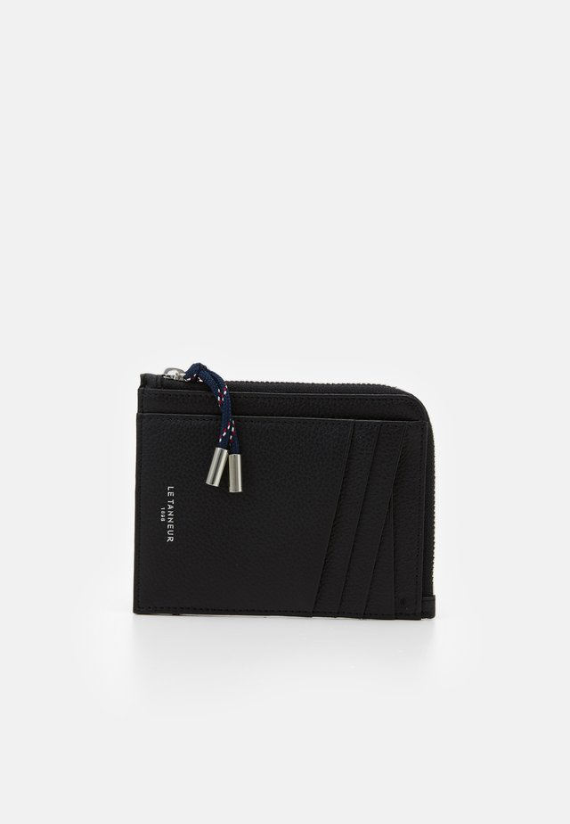 NATHAN ZIPPED CARDS HOLDER - Plånbok - noir