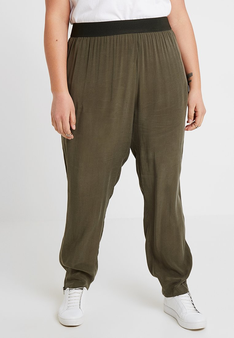 Live Unlimited London - PLAIN TROUSER - Trousers - khaki