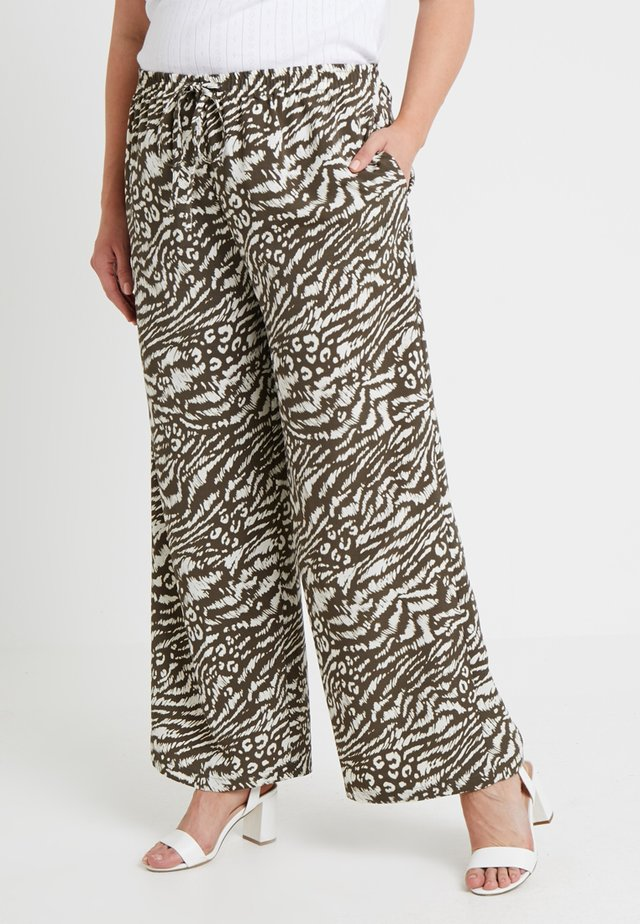 ABSTRACT ANIMAL TROUSER - Stoffhose - green