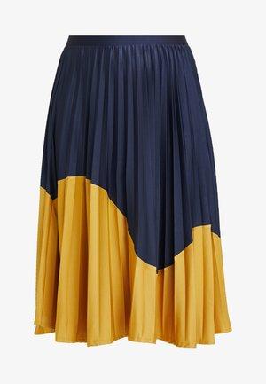 PLEAT SKIRT - A-line skirt - navy