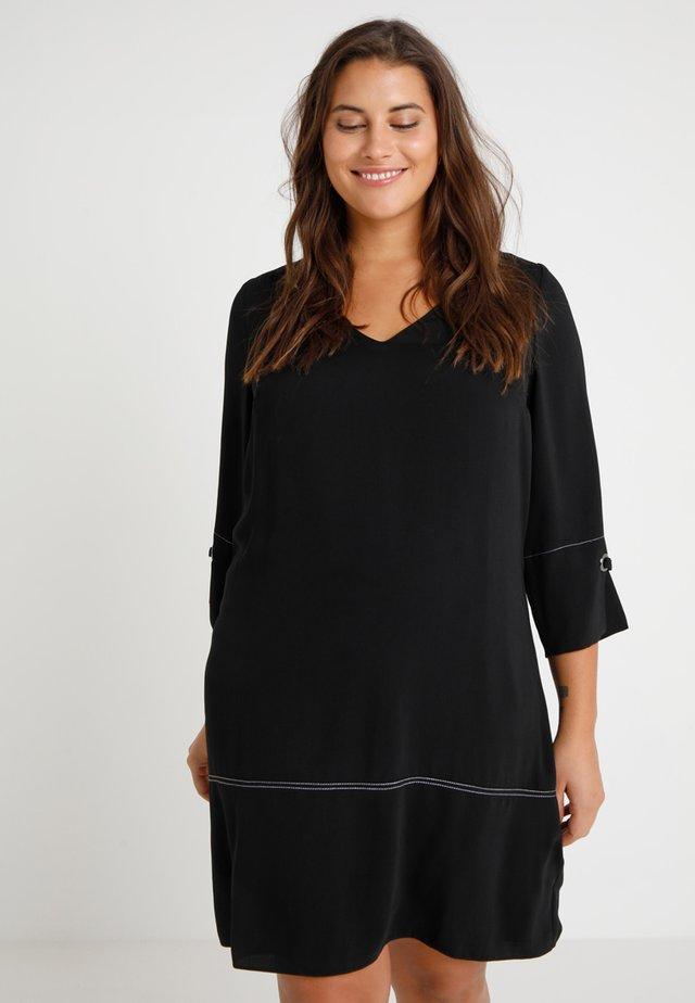 STITCH DETAIL DRESS - Day dress - black