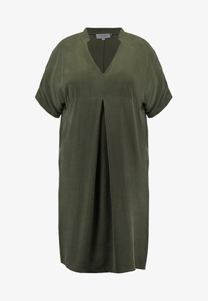 MANDARIN COLLAR DRESS - Kjole - khaki