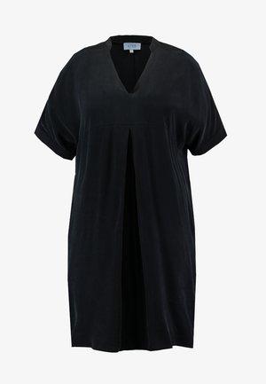 MANDARIN COLLAR DRESS - Denní šaty - black