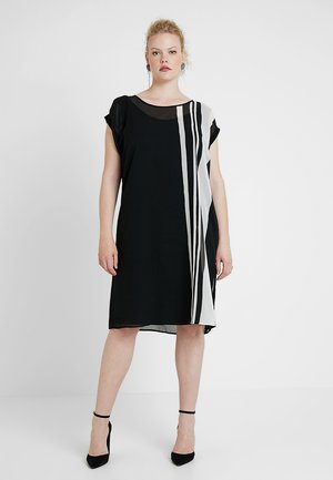 MONO STRIPE DRESS - Vestito estivo - black