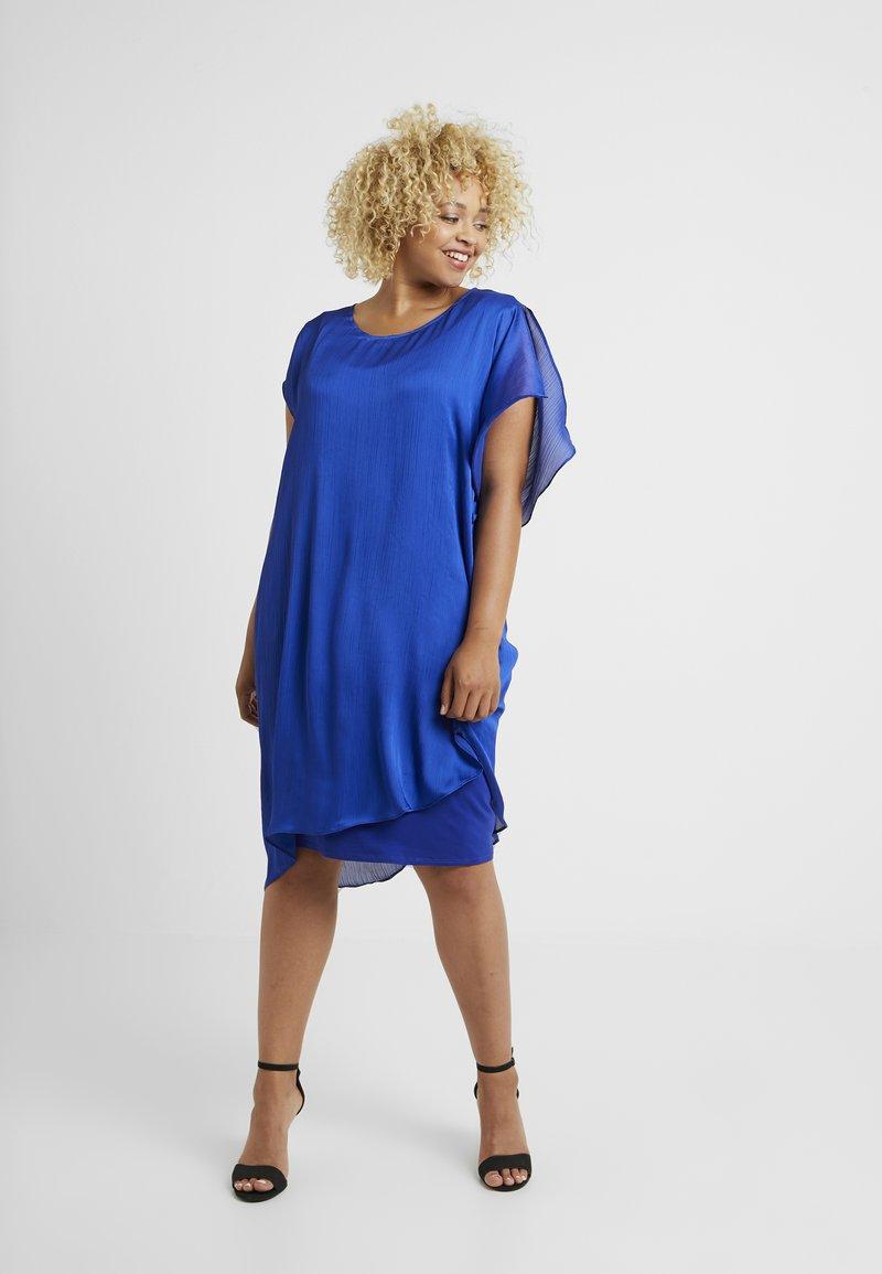 Live Unlimited London - WATERFALL SIDE DRESS - Freizeitkleid - royal blue