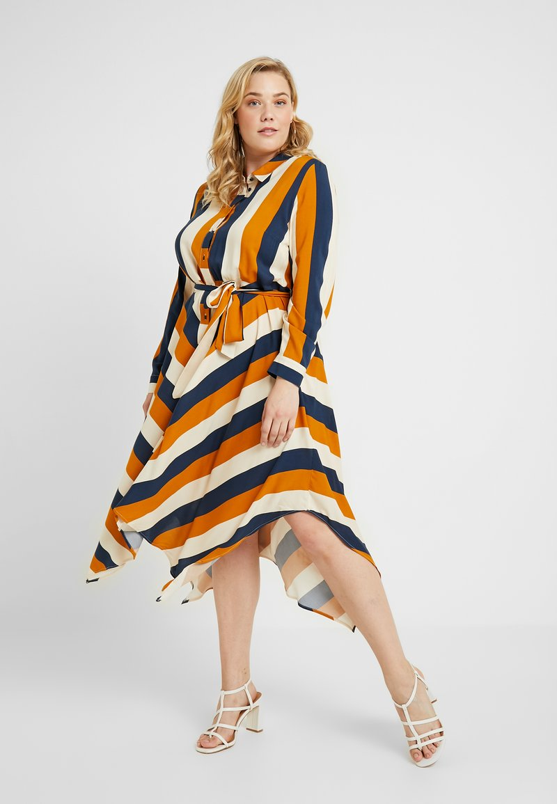 Live Unlimited London - HANKY HEM DRESS - Shirt dress - navy