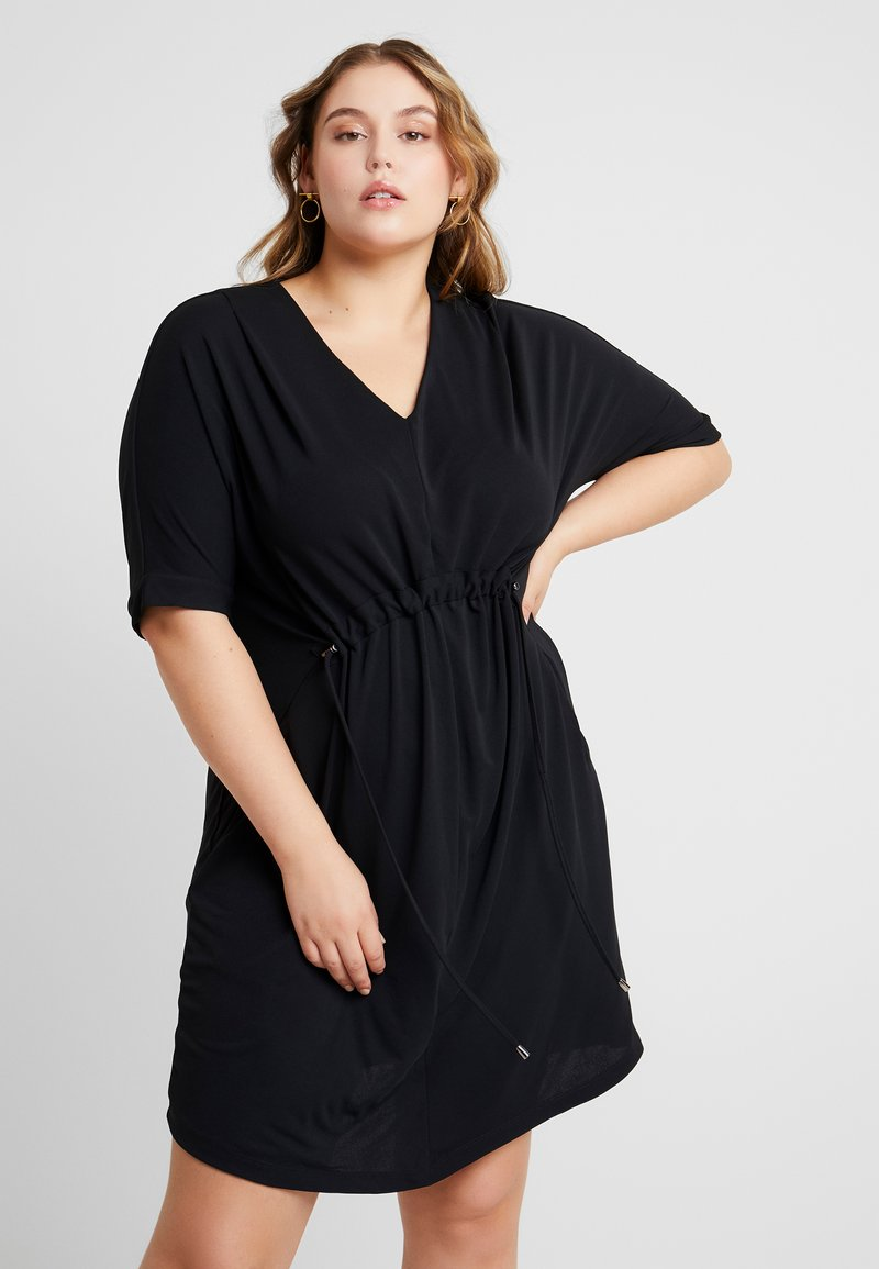 Live Unlimited London - DRAWSTRING WAIST DRESS - Jersey dress - black