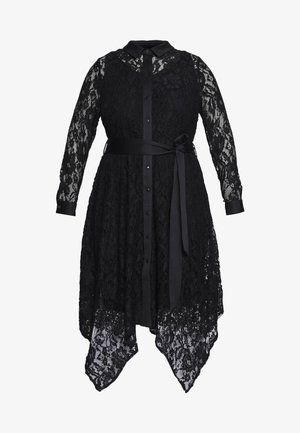 HANKY HEM DRESS - Skjortekjole - black