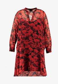 Live Unlimited London - POPPY DROPPED WAIST DRESS - Kjole - red - 5