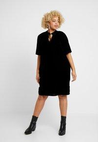 Live Unlimited London - COCOON DRESS - Day dress - black - 0