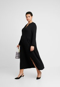 Live Unlimited London - MIDI SHIRT DRESS - Maxikjole - black - 2