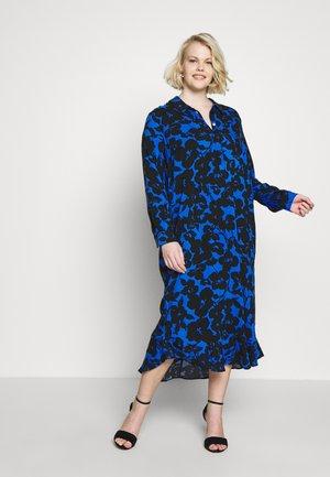 SPUN RUFFLE DRESS - Košilové šaty - blue